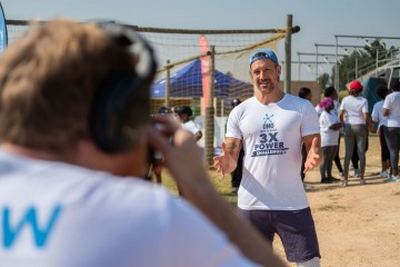 Full Video Production by Cape Town Videographer for The OMO 3X POWER CHALLENGE Social Media Campaign with Celebrity Jonathan Boyton Lee in Bryanston, Johannesburg